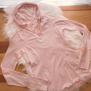lululemon athletica thin pink hooded pullover
